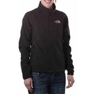 North Face Windwall Full Zip Fleece Jacket Green